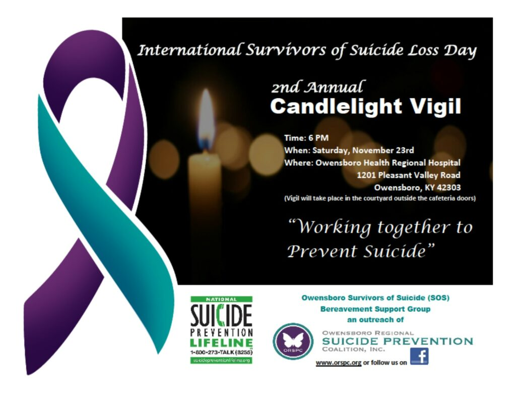 Candlelight Vigil, November 23, 6pm, OHRH