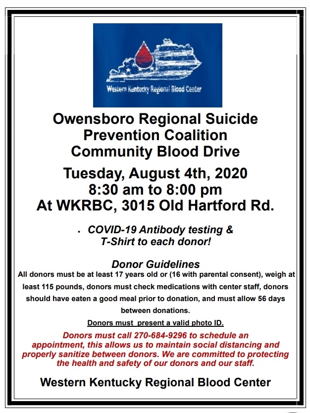 August 4 Blood Drive